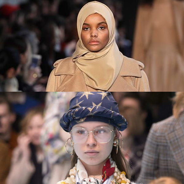 Modest Fashion Mall Blog post article head coverings hijabs turbans Gucci Max Mara