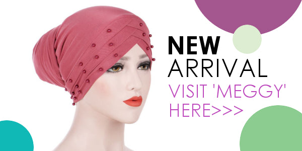 Modest Fashion Mall head coverings head wraps turbans pre-tied hijabs new arrival meggy