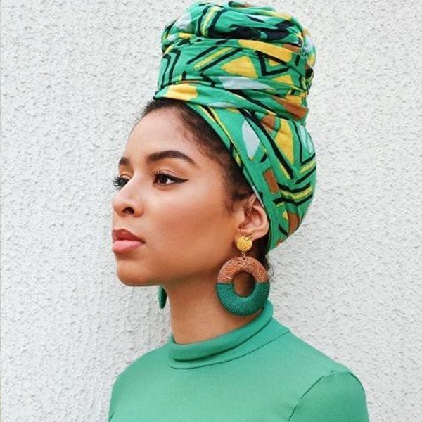 Modest Fashion Mall turbans head coverings head wraps mood style blog article long head wrap green
