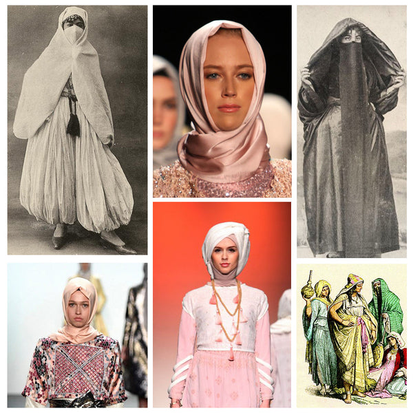 Modest fashion mall evoluiton of head covering blog post head wraps turbans hijabs bandannas3