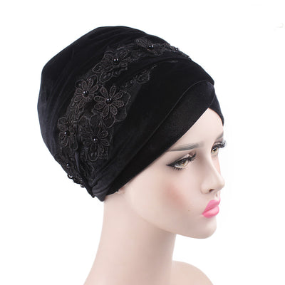 Abigail_Head wrap_Headscarf_Headwear_Head covering_Headscarves-Black