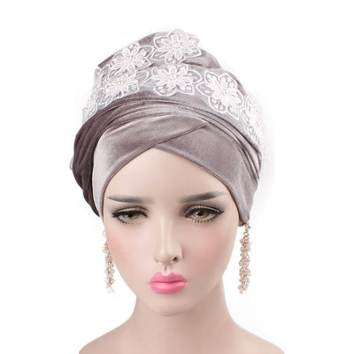 Abigail_Head wrap_Headscarf_Head wear_Head covering_Headscarves-Gray-3