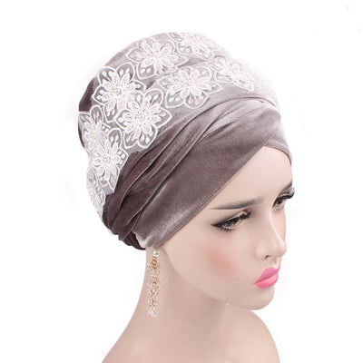 Abigail_Head wrap_Headscarf_Head wear_Head covering_Headscarves-Gray