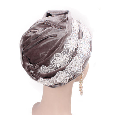 Abigail_Head wrap_Headscarf_Head wear_Head covering_Headscarves-Gray-4