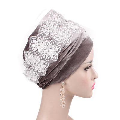 Abigail_Head wrap_Headscarf_Head wear_Head covering_Headscarves-Gray-2