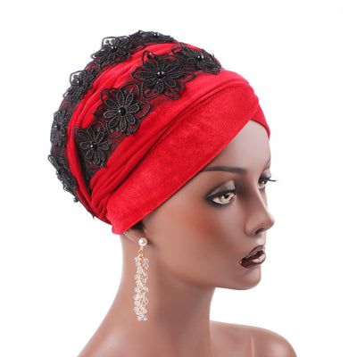 Abigail_Head wrap Headscarf_Head wear_Head covering_Headscarves-Red