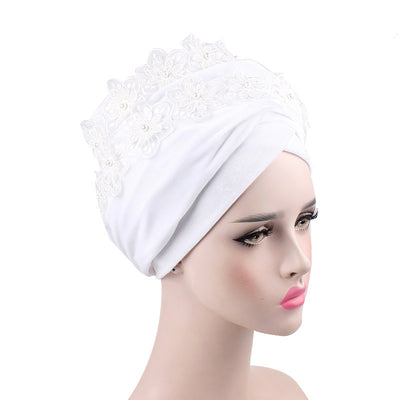 Abigail_Headwrap Headscarf_Headwear_Head covering_Headscarves-White