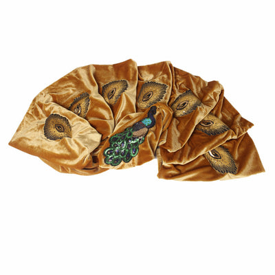 African Peacock Head Wrap_Headscarf_Headwear_Head covering_Headscarves_Gold