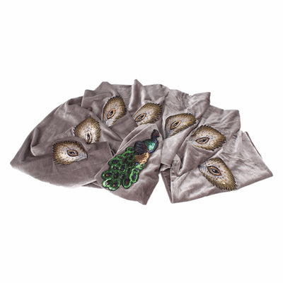 African Peacock Head Wrap_Headscarf_Headwear_Head covering_Headscarves_Gray
