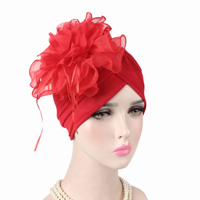 Alexis_Turban_Turbans_Head_covering_Modest_Floral_Headcovers_Fancy_Wedding_Tea_Party_Red