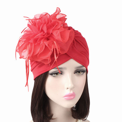 Alexis_Turban_Turbans_Head_covering_Modest_Floral_Headcovers_Fancy_Wedding_Tea_Party_Red-2