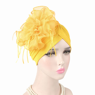 Alexis_Turban_Turbans_Head_covering_Modest_Floral_Headcovers_Fancy_Wedding_Tea_Party_Yellow