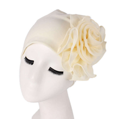 Bika Turban_Turbans_Head_covering_Modest_Floral_Headcovers_Beige