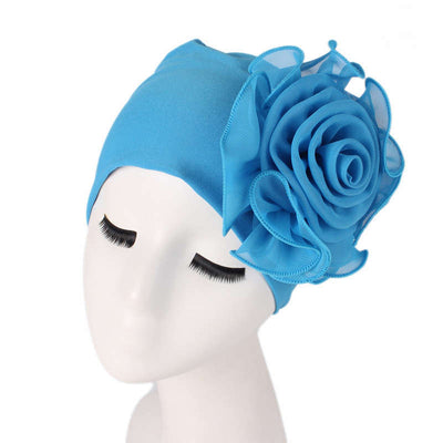 Bika Turban_Turbans_Head_covering_Modest_Floral_Headcovers_Blue