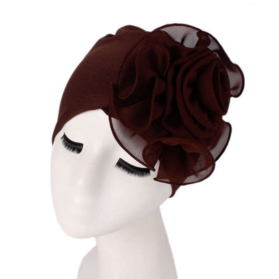 Bika Turban_Turbans_Head_covering_Modest_Floral_Headcovers_Brown