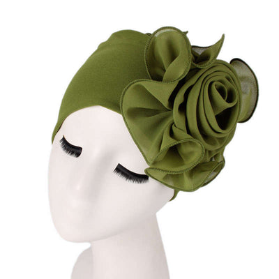 Bika Turban_Turbans_Head_covering_Modest_Floral_Headcovers_Green