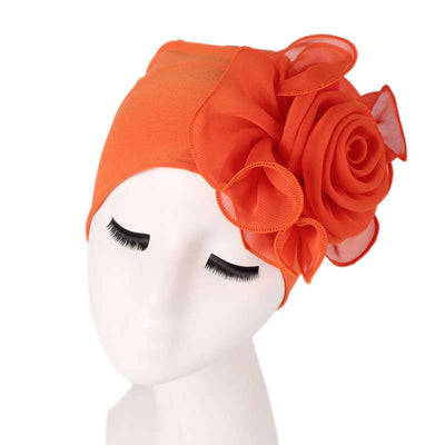 Bika Turban_Turbans_Head_covering_Modest_Floral_Headcovers_Orange