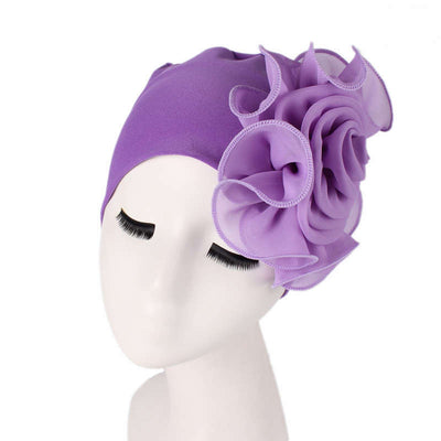 Bika Turban_Turbans_Head_covering_Modest_Floral_Headcovers_Purple