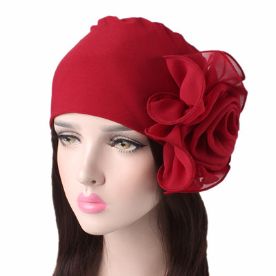 Bika Turban_Turbans_Head_covering_Modest_Floral_Headcovers_Red