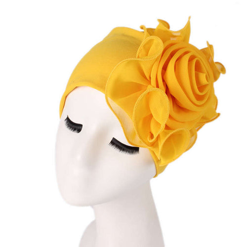 Bika Turban_Turbans_Head_covering_Modest_Floral_Headcovers_Yellow
