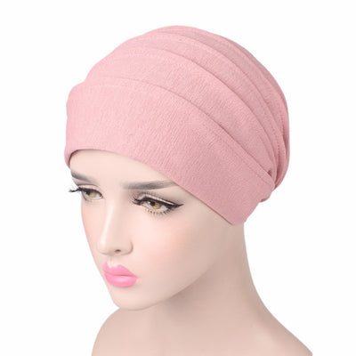 Bridget Basic Hat_Turbans_Head covers_Head covering_Hats_Pink