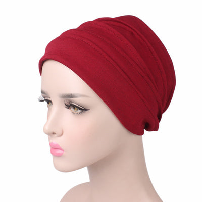 Bridget Basic Hat_Turbans_Head covers_Head covering_Hats_Red