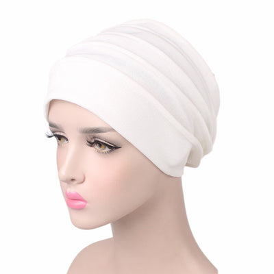 Bridget Basic Hat_Turbans_Head covers_Head covering_Hats_White