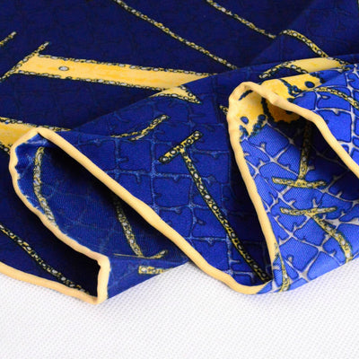 Carol Scarf Blue Large Twill Square Scarves Wraps 140 140cm Muslim Hijab Headwrap Headcovers_Blue-3