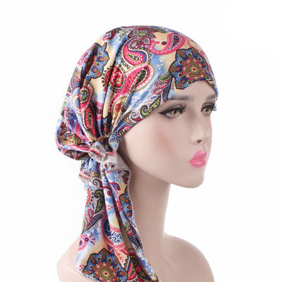 Catarina_Patterned_Bandana_Turban_Bandanna_Cancer hat_Chemo hat_Beanie hat_Multi