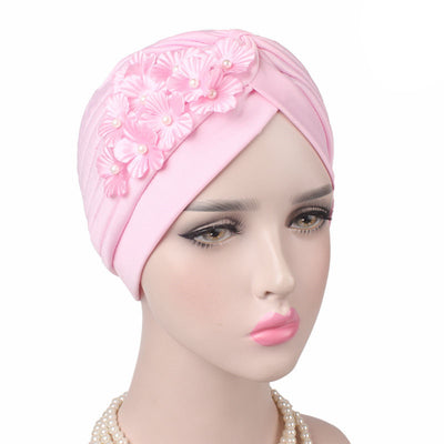 Christine_Floral_Turban_Turbans_Head_covering_Modest_Headcovers_Pink