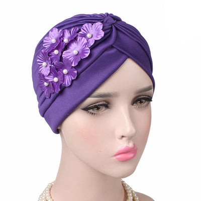 Christine_Floral_Turban_Turbans_Head_covering_Modest_Headcovers_Purple