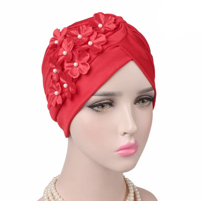 Christine_Floral_Turban_Turbans_Head_covering_Modest_Headcovers_Red