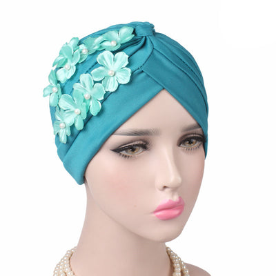 Christine_Floral_Turban_Turbans_Head_covering_Modest_Headcovers_Turquoise