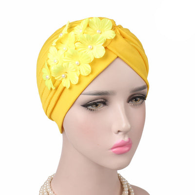 Christine_Floral_Turban_Turbans_Head_covering_Modest_Headcovers_Yellow