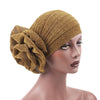 Claudia Shimmer Turban_Head covering_Head wrap_Floral_Shiny_Headcovers_Gold-1