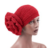 Claudia Shimmer Turban_Head covering_Head wrap_Floral_Shiny_Headcovers_Red