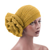 Claudia Shimmer Turban_Head covering_Head wrap_Floral_Shiny_Headcovers_Yellow