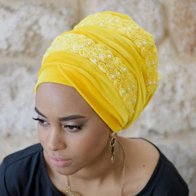 Headscarf, Head wrap, Head covering, Modest Chic, Yellow