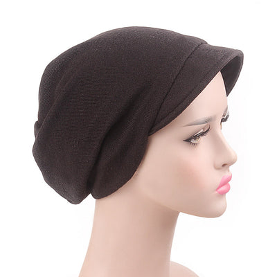 Debra Basic Wool Hat_Head covering_Buggy hat_Cap_Dreadlock hat_Winter_ Baggy_Beret_Beanie_Chimo hat_Black