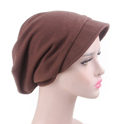 Debra Basic Wool Hat_Head covering_Buggy hat_Cap_Dreadlock hat_Winter_ Baggy_Beret_Beanie_Chimo hat_Brown