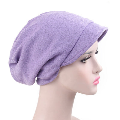 Debra Basic Wool Hat_Head covering_Buggy hat_Cap_Dreadlock hat_Winter_ Baggy_Beret_Beanie_Chimo hat_Purple