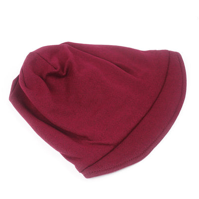 Debra Basic Wool Hat_Head covering_Buggy hat_Cap_Dreadlock hat_Winter_ Baggy_Beret_Beanie_Chimo hat_Red-3