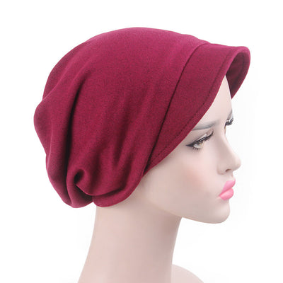Debra Basic Wool Hat_Head covering_Buggy hat_Cap_Dreadlock hat_Winter_ Baggy_Beret_Beanie_Chimo hat_Red