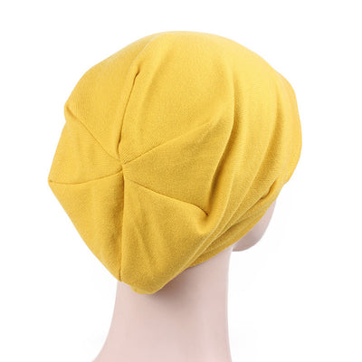Debra Basic Wool Hat_Head covering_Buggy hat_Cap_Dreadlock hat_Winter_ Baggy_Beret_Beanie_Chimo hat_yellow-2