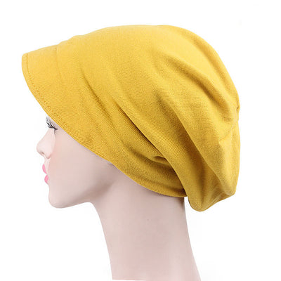 Debra Basic Wool Hat_Head covering_Buggy hat_Cap_Dreadlock hat_Winter_ Baggy_Beret_Beanie_Chimo hat_yellow-3