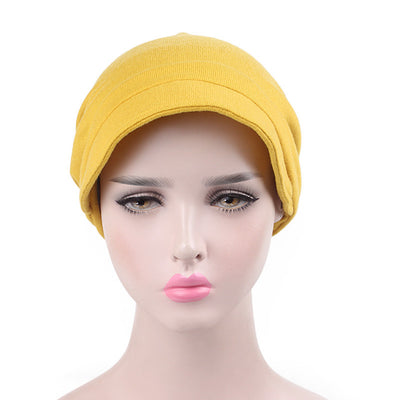 Debra Basic Wool Hat_Head covering_Buggy hat_Cap_Dreadlock hat_Winter_ Baggy_Beret_Beanie_Chimo hat_yellow-4