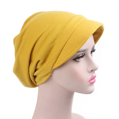 Debra Basic Wool Hat_Head covering_Buggy hat_Cap_Dreadlock hat_Winter_ Baggy_Beret_Beanie_Chimo hat_yellow