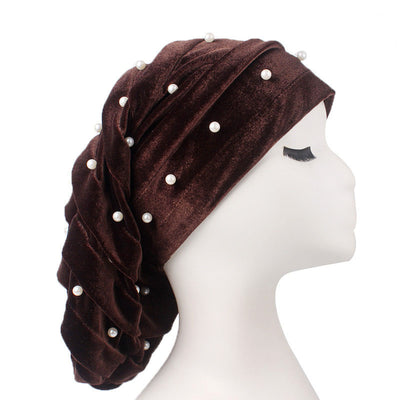 Diana Pearl Hat_African Hat_Head covering_Buggy hat_Cap_Rasta hat_Modest_Brown