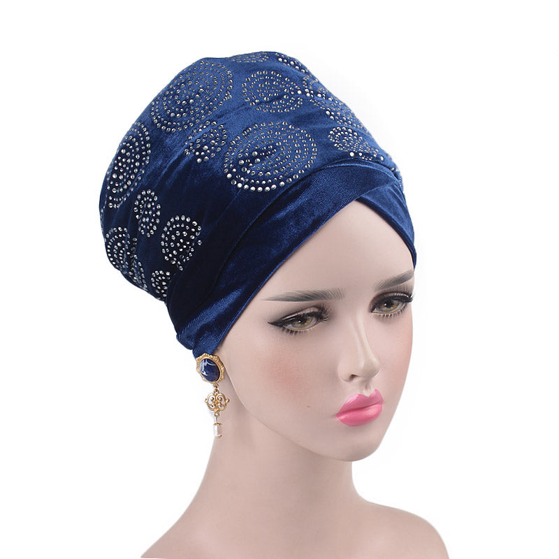 Doris_Nigerian_Head_wrap_Headwear_Head_covering_Headscarves_Blue