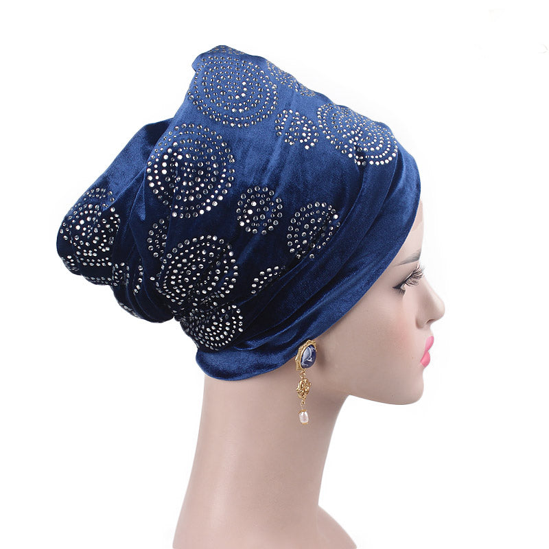 Doris_Nigerian_Head_wrap_Headwear_Head_covering_Headscarves_Blue-2